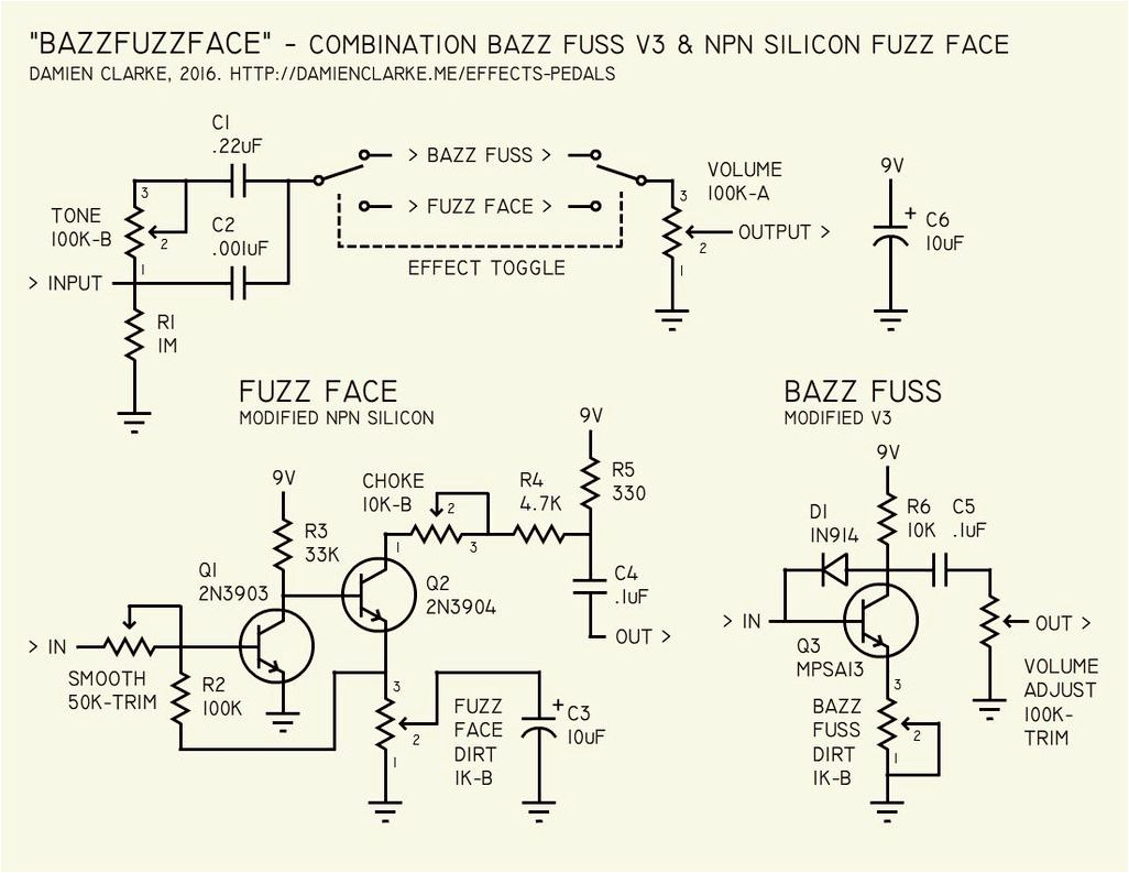 Effects pedals. The Bazz Fuzz Face