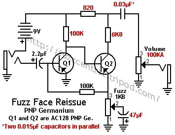 Fuzz face schematic