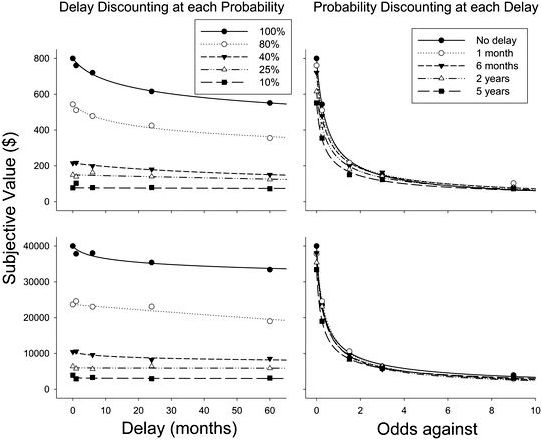 The combined results of delay and probability in discounting